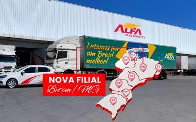 Nova Filial Betim / MG Alfa Transportes