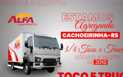 Estamos agregando 3/4, toco e truck em Cachoeirinha/RS