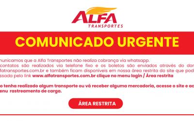 Comunicado Urgente Alfa Transportes