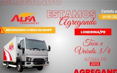 Estamos agregando em Londrina/PR