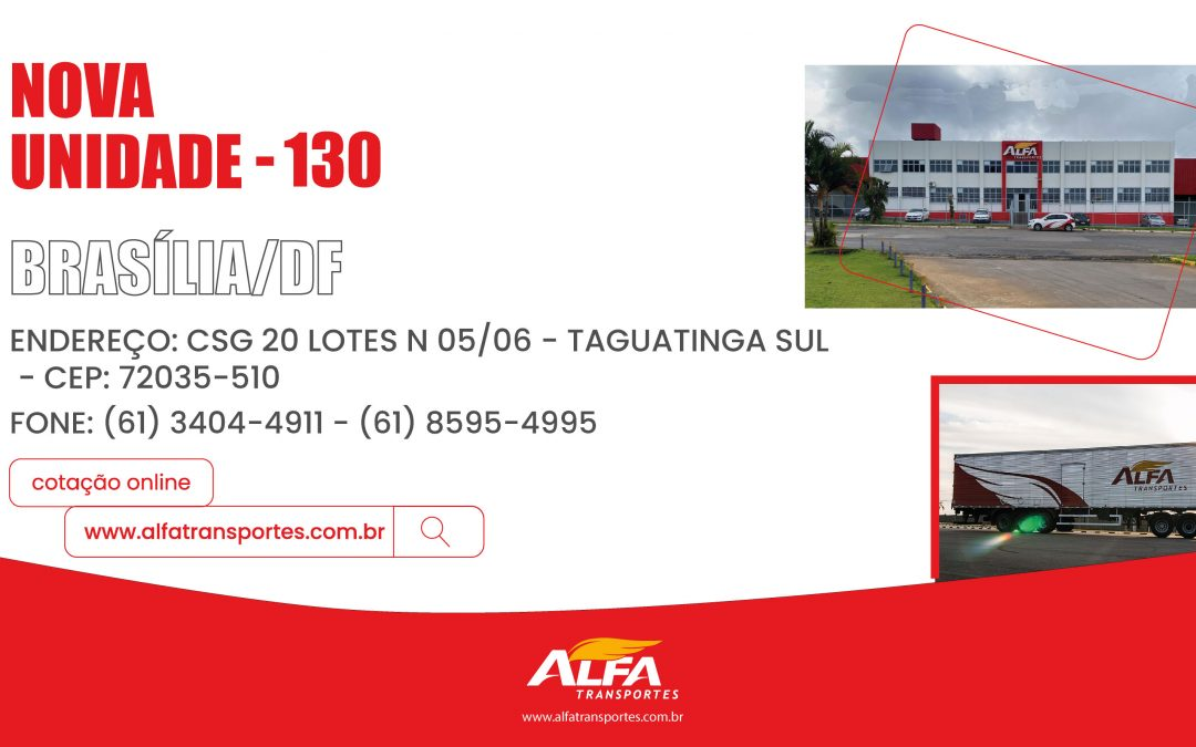 Unidade 130 – Brasília/DF