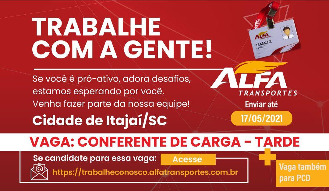 Vaga Conferente de Carga e Descarga – Itajaí/SC