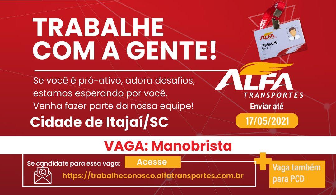 Vaga Manobrista – Itajaí/SC