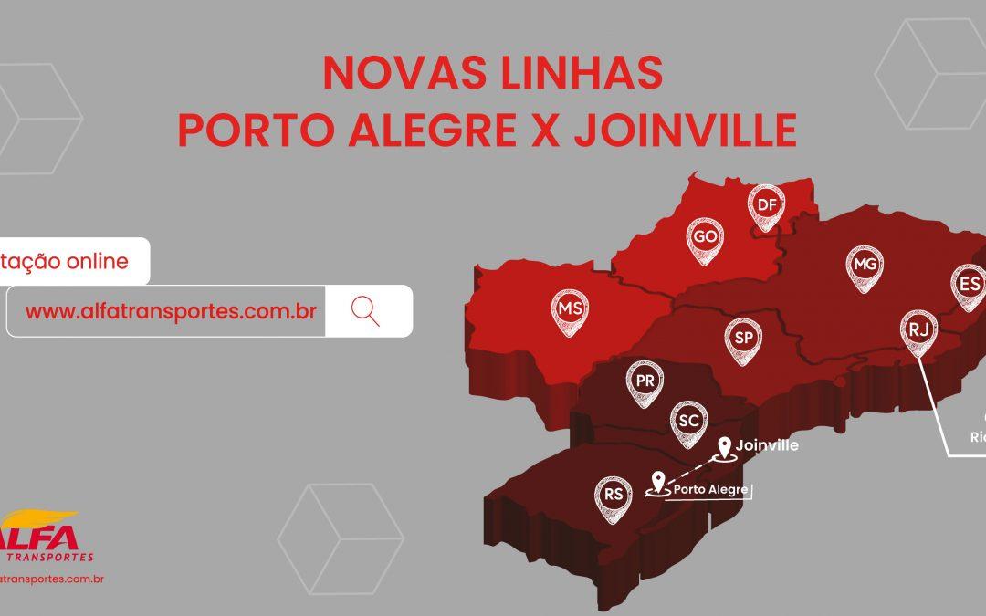 Nova linha Porto Alegre x Joinville
